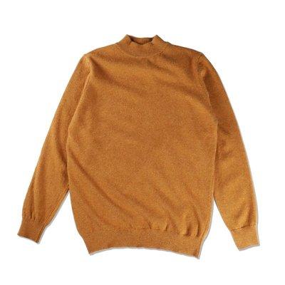 Freaky House-葡萄牙LA PAZ FINO Mock Neck高領羊毛針織毛衣針織衫蜂蜜黃葡萄牙製