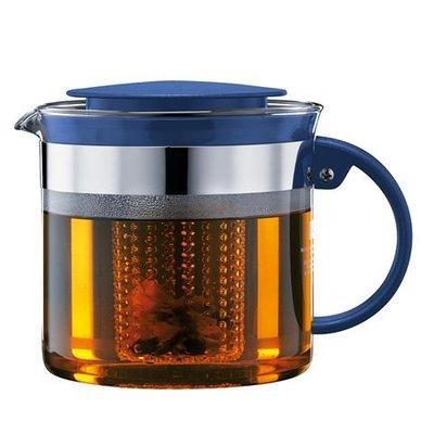 丹麥Bodum Bistro Nouveau Tea Press 水壺 濾水壺 1L 容量大 寶藍色