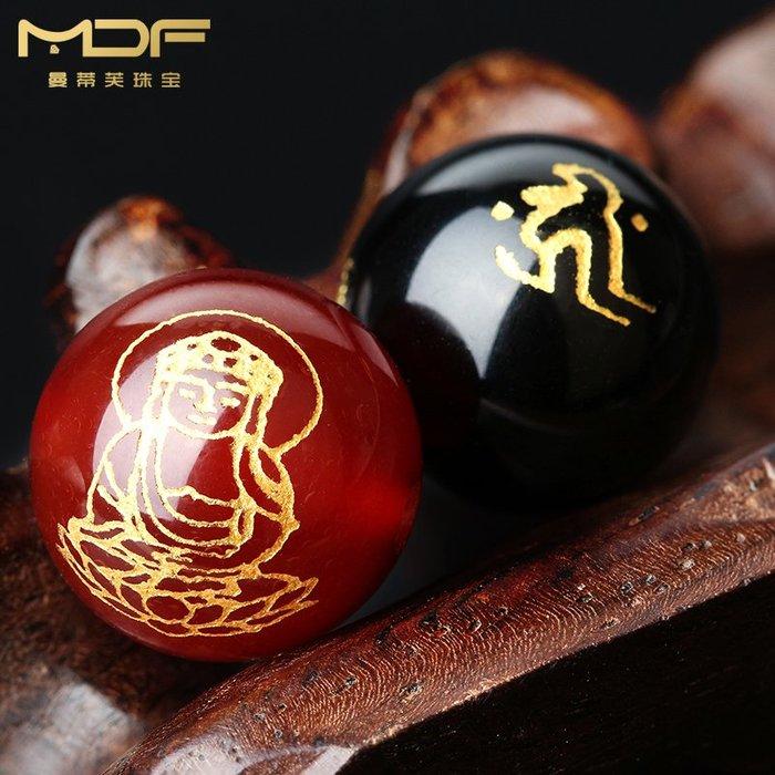 熱賣款--紅瑪瑙八大守護神散珠黑瑪瑙生肖圓珠子 佛珠手串手鏈飾品配件8mm#串珠用品#珠子#手工藝品#半成品