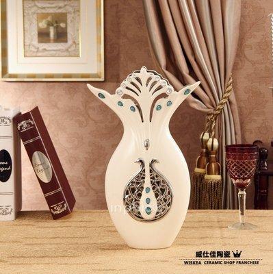 INPHIC-新款白瓷孔雀花瓶 歐式家居裝飾器皿 酒店擺設 別墅擺設飾品