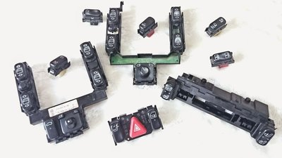 賓士 w210 w208 w202 開關 電動窗 後視鏡 模組 都有 極新 clk e230 e240 e280 德祥行