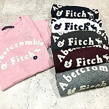 Maple麋鹿小舖 Abercrombie&Fitch * AF 電繡麋鹿貼布字母短T * ( 現貨6色 )