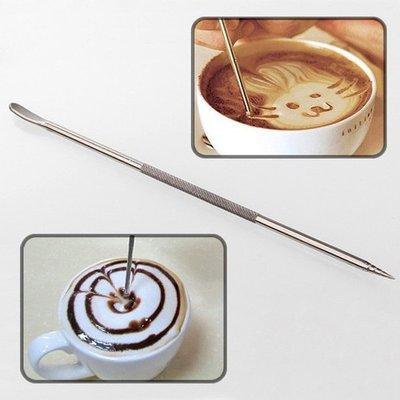 304不銹鋼咖啡拉花針/雕花針/鉤花棒/花式拉花/專業玩家用