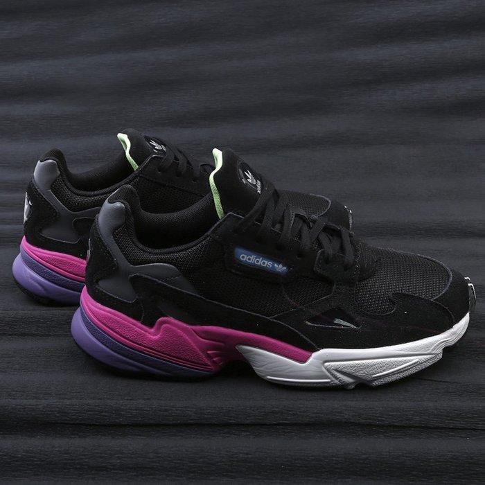 Washoes adidas Originals W Falcon 黑 桃紅 白 CG6219 老爹鞋 老爸鞋 女鞋05