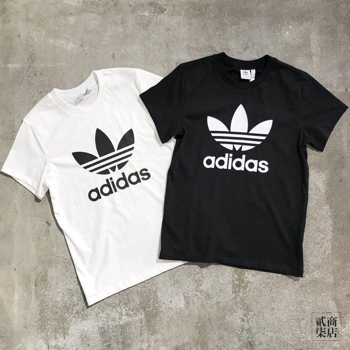 (貳柒商店) adidas Boyfriend Tee 女款 三葉草 男友T 短袖 黑 DX2323 白 DX2322