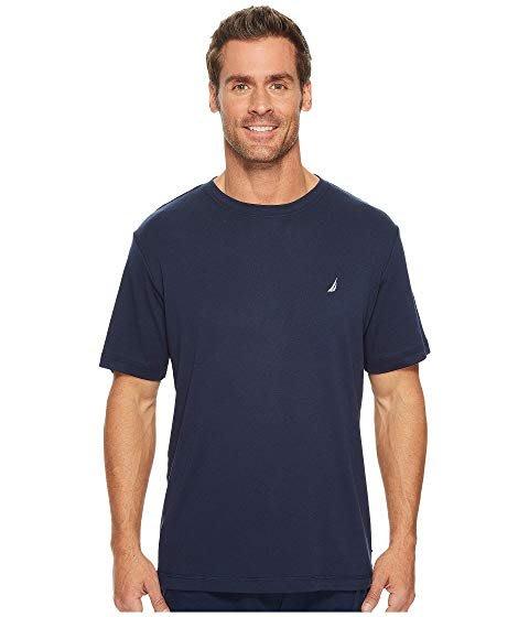 美國百分百【全新真品】Nautica T恤 帆船牌 T-SHIRT 上衣 短袖 素面 深藍 大尺碼 XL號 J551