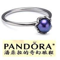 Retired {{潘朵拉的奇幻旅程}} Blue Pearl Ring Size 50 190865BRPDB