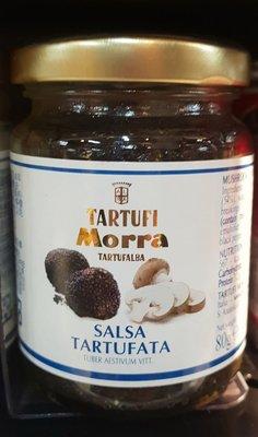 7/28前 TARTUFI MORRA 義大利 8%黑松露蘑菇醬 80g 阿爾巴夏季松露蘑菇醬 (墨魚汁)到期日:2023/2/27