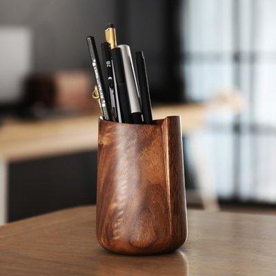 錯位筆筒[不然otherwise]黑胡桃 實木 筆插 筆罐
