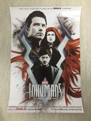 全新 Marvel Inhumans IMAX Poster (可換其他IMAX款)