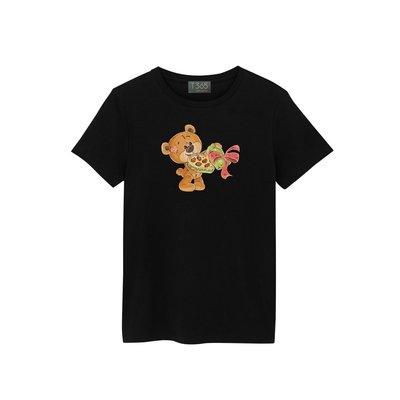 T365 可愛 萌 熊熊 布偶 禮物 巧克力 愛心 T恤 男女皆可穿 多色同款可選 短T 素T 素踢 TEE 短袖 上衣