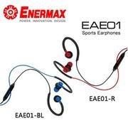 [米特3C數位 岡山實體店面] ENERMAX 安耐美 運動型耳掛式耳機 /紅/藍色