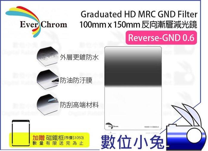 數位小兔【EverChrom R-GND 0.6 方形 反向漸層減光鏡】贈磁鐵框 送完為止 ND4 100x150mm