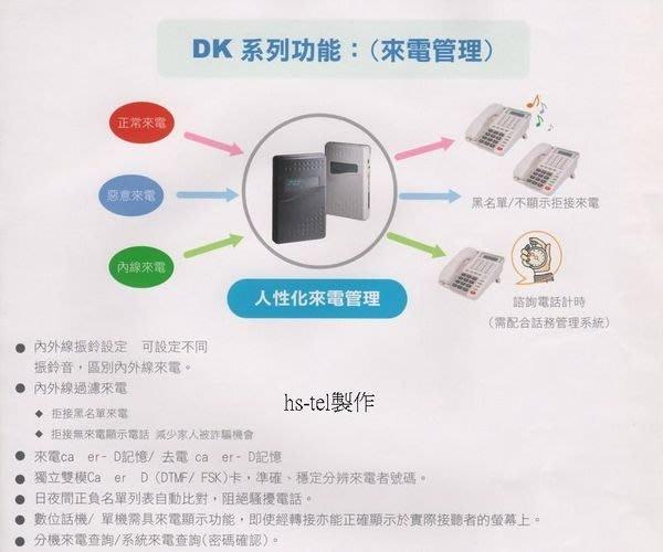 電話總機專業網...眾通DK-816+5台12鍵顯示話機..基本容量4外線8分機....新品