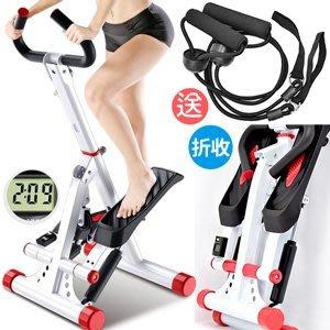 大角度安全扶手踏步機送拉繩折疊收納有氧滑步機划步機搖擺登山美腿機上下踏步機運動健身器材B002-331⊙偷拍網⊙