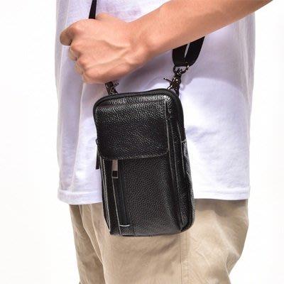 腰 包 真皮 肩背包-7吋豎款方型牛皮男包包2色73tr10[獨家進口][米蘭精品]