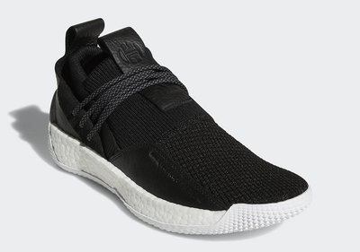 # adidas Harden Vol. 2 LS 黑白色 BOOST 大鬍子 哈登 男鞋 休閒 BB7651 YTS