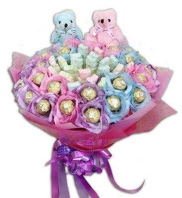 娃娃屋樂園~✿二次進場花束/小熊棉花糖金莎✿ 每束1200元/抽取式分享花束/第二次進場