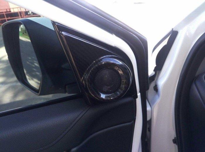 【安喬汽車精品】本田 HONDA CRV5 五代 水轉 卡夢 前門 高音喇叭罩 卡夢紋路面板 高音喇叭面板 貼片