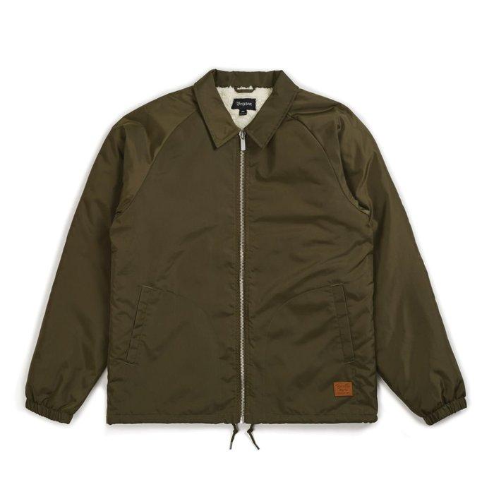 《 Nightmare 》Brixton Claxton Collar Sherpa Jacket - Olive