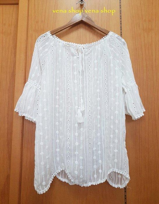 夏季 女 雪紡罩衫  純白上衣  外罩衫  荷葉袖  現貨