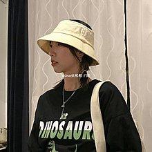 SOso炫酷帽子間TUshu//街頭空頂漁夫帽ins 百搭 夏季遮陽時尚個性純色盆帽子男女