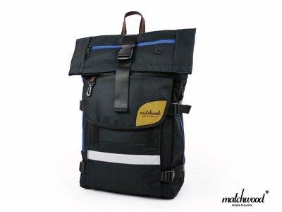 { POISON } MATCHWOOD RIDER 單車快遞後背包 17吋筆電夾層 黑藍款