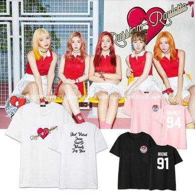 Red Velvet專輯同款周邊新品應援衣服男女裝短袖T恤S新02