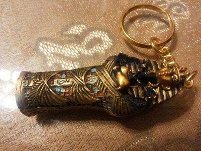 [  手工彩繪-土坦卡門 杜唐卡門圖坦卡門 法老王飾品配件 鑰匙圈 ]-Egypt 埃及古文明.