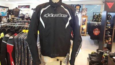 瀧澤部品 義大利 Alpinestars A星 Fastback WP 防摔衣 黑白 秋冬 賽車衣 防水透氣 防風保暖