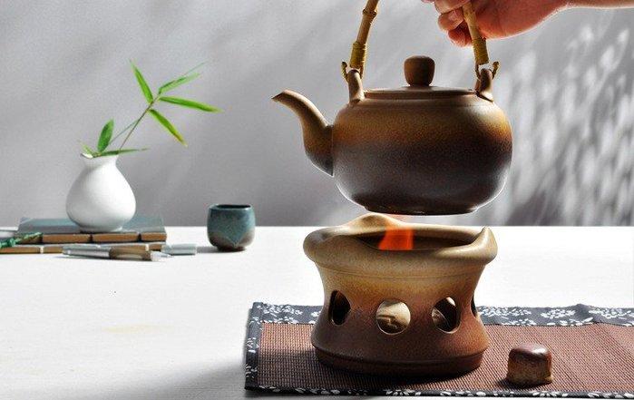 【古韻之家】煮茶器陶瓷電陶爐煮茶爐普洱茶壺套裝煮茶壺仿古酒精家用泡茶器