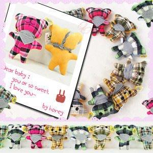 【推薦+】格紋熊玩偶P002-0043(格紋熊娃娃.小熊玩偶.小熊娃娃.熊抱枕.動物娃娃.動物玩偶)