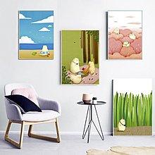 北歐卡通擼貓貓控可愛貓咪裝飾畫畫芯畫布微噴打印兒童房粉色掛畫(四款可選)