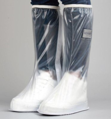 耐嘉 KINYO 磨砂白防雨鞋套RAS-5730 鞋套高筒防雨 雨具 雨鞋 L 3XL 台南PQS
