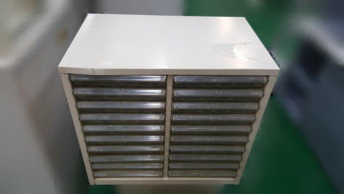 台中二手家具店 宏品全新中古辦公傢俱 C92503文件鐵櫃20抽 置物櫃 高低櫃 資料櫃*2手oa辦公設備拍賣