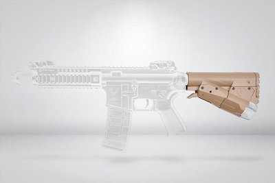[01] AENE 戰術 後托 沙(電動工具電鑽電池鋰電快拆BB槍卡賓槍步槍玩具槍AEG AR M4 M16 416