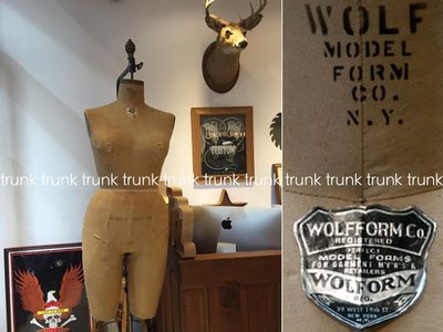 1957 Vintage Wolf Hanging Model Forms  NYC 模特兒