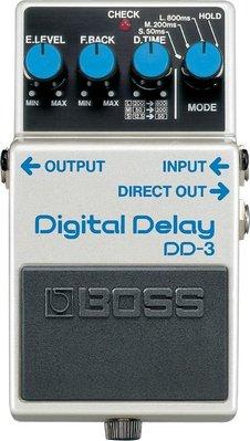 ♪♪學友樂器音響♪♪ BOSS DD-3 單顆Delay效果器