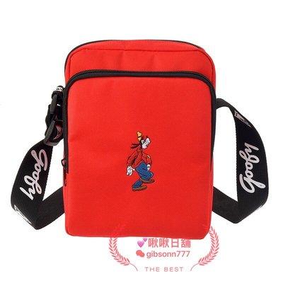 《啾啾日舖》現貨 日本迪士尼商店 高飛 Summer Wardrobe 高質感刺繡 側背包 隨身包 隨身袋 (紅色)