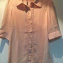 全新粉色雪紡襯衫M