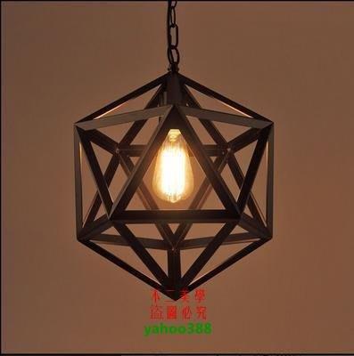【美學】北歐復古鐵藝吊燈loft酒吧餐廳西餐廳工業風鐵藝吊燈MX_1632