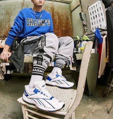 現貨 iShoes正品 Reebok Interval 96 情侶鞋 白 藍 限量 休閒 運動鞋 老爹鞋 EH3104