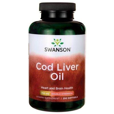 【活力小站】Swanson Double Cod Liver Oil 挪威鱈魚肝油 強效型 *250粒