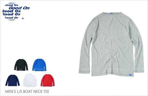 WaShiDa【golt1503c】Good On 日本品牌 L/S Boat Neck 長袖 船領 素面 反應染 T恤