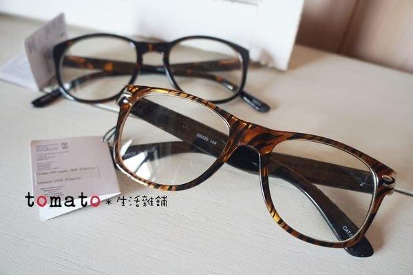 ˙TOMATO生活雜鋪˙日本進口雜貨forever21豹紋咖啡色系膠框眼鏡