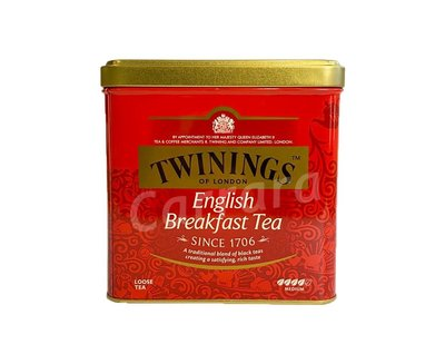 卡拉拉咖啡精品 英國 TWININGS 唐寧茶 英倫早餐茶 500g/罐