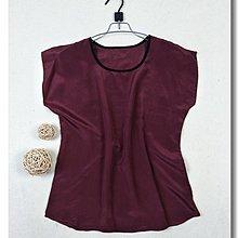 100%蠶絲真絲上衣--紫紅色素面--雙縐面料--運費較貴但可合併