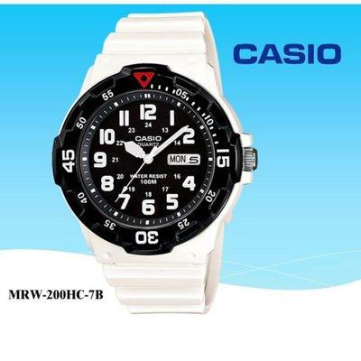 CASIO潛水錶100米防水運動錶 上圈可旋轉計時中性男女可【↘超低價】MRW-200HC_MRW-200