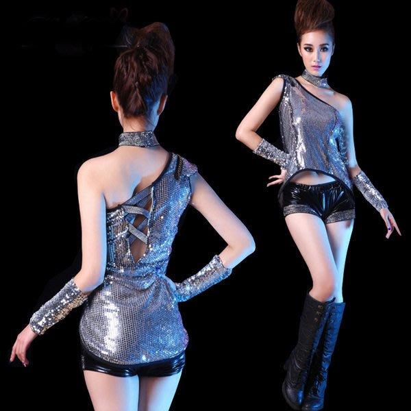 5Cgo【鴿樓】會員有優惠 40644357951 現代舞蹈服裝演出服亮片舞台時尚爵士舞服ds表演服夜店PUB現代舞衣