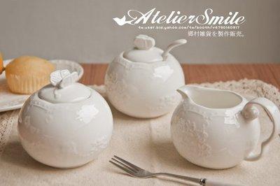 [ Atelier Smile ] 鄉村雜貨 法式白瓷蝴蝶 縷空陶瓷午茶糖罐 小茶罐 小茶盤 現貨+出清